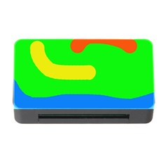 Rainbow abstraction Memory Card Reader with CF