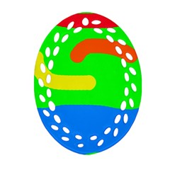 Rainbow abstraction Ornament (Oval Filigree)