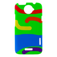 Rainbow abstraction HTC One X Hardshell Case