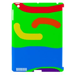 Rainbow abstraction Apple iPad 3/4 Hardshell Case (Compatible with Smart Cover)