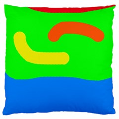 Rainbow Abstraction Large Cushion Case (two Sides)