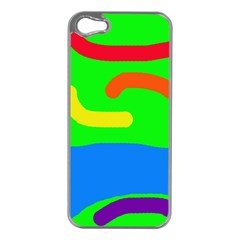 Rainbow abstraction Apple iPhone 5 Case (Silver)