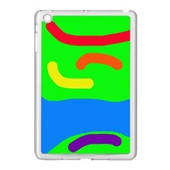 Rainbow abstraction Apple iPad Mini Case (White)