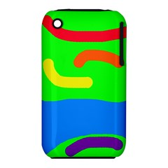 Rainbow abstraction Apple iPhone 3G/3GS Hardshell Case (PC+Silicone)