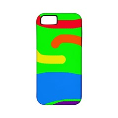 Rainbow abstraction Apple iPhone 5 Classic Hardshell Case (PC+Silicone)