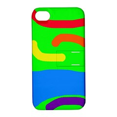 Rainbow abstraction Apple iPhone 4/4S Hardshell Case with Stand