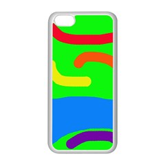 Rainbow abstraction Apple iPhone 5C Seamless Case (White)