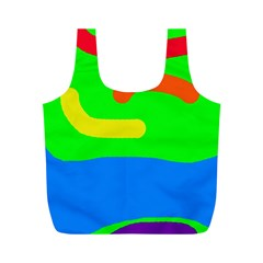 Rainbow abstraction Full Print Recycle Bags (M)