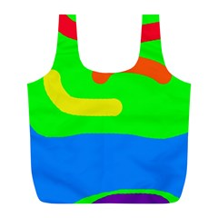 Rainbow abstraction Full Print Recycle Bags (L)