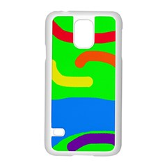 Rainbow abstraction Samsung Galaxy S5 Case (White)