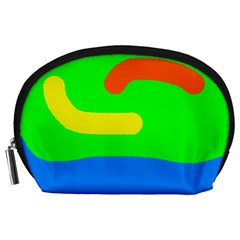 Rainbow abstraction Accessory Pouches (Large)