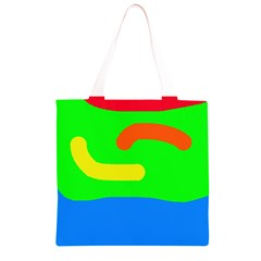 Rainbow abstraction Grocery Light Tote Bag