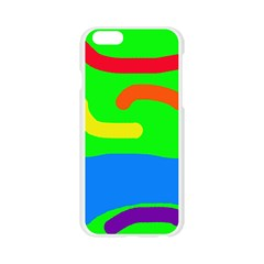 Rainbow abstraction Apple Seamless iPhone 6/6S Case (Transparent)
