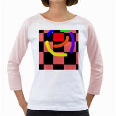 Multicolor abstraction Girly Raglans