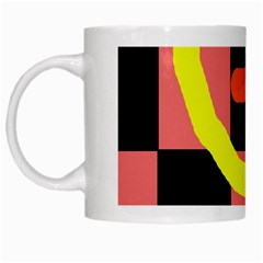 Multicolor Abstraction White Mugs