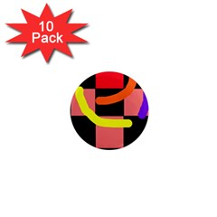 Multicolor abstraction 1  Mini Magnet (10 pack)