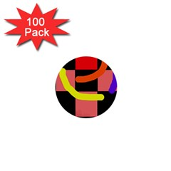 Multicolor abstraction 1  Mini Buttons (100 pack)