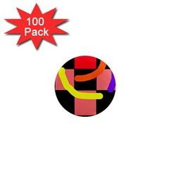 Multicolor abstraction 1  Mini Magnets (100 pack)