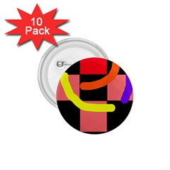 Multicolor abstraction 1.75  Buttons (10 pack)