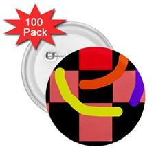Multicolor abstraction 2.25  Buttons (100 pack)