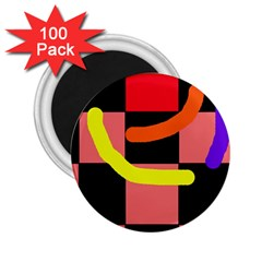 Multicolor abstraction 2.25  Magnets (100 pack)