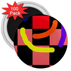 Multicolor abstraction 3  Magnets (100 pack)