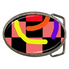 Multicolor abstraction Belt Buckles