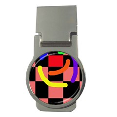 Multicolor abstraction Money Clips (Round)