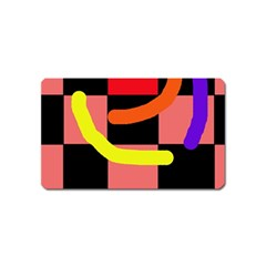 Multicolor abstraction Magnet (Name Card)