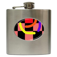 Multicolor abstraction Hip Flask (6 oz)
