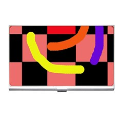 Multicolor abstraction Business Card Holders