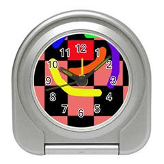 Multicolor abstraction Travel Alarm Clocks