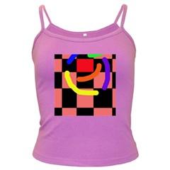 Multicolor abstraction Dark Spaghetti Tank