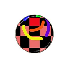 Multicolor abstraction Hat Clip Ball Marker