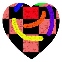 Multicolor abstraction Jigsaw Puzzle (Heart)