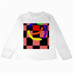 Multicolor abstraction Kids Long Sleeve T-Shirts