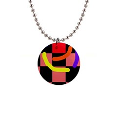 Multicolor abstraction Button Necklaces