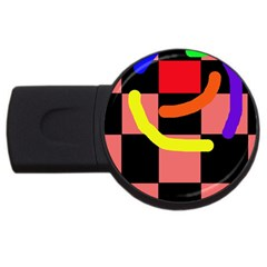 Multicolor abstraction USB Flash Drive Round (4 GB)