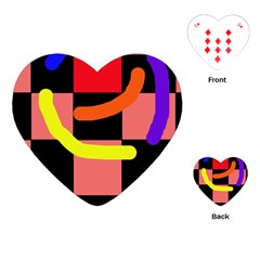 Multicolor abstraction Playing Cards (Heart)