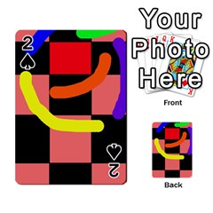 Multicolor abstraction Playing Cards 54 Designs