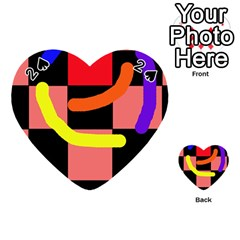 Multicolor abstraction Playing Cards 54 (Heart)
