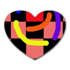Multicolor abstraction Heart Mousepads