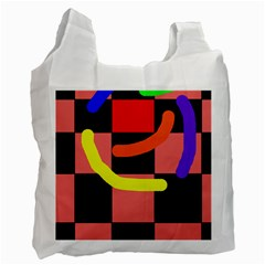 Multicolor abstraction Recycle Bag (One Side)