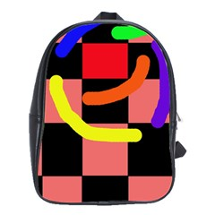 Multicolor abstraction School Bags(Large)