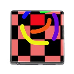Multicolor abstraction Memory Card Reader (Square)
