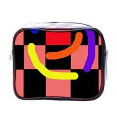 Multicolor abstraction Mini Toiletries Bags