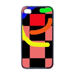 Multicolor abstraction Apple iPhone 4 Case (Black)