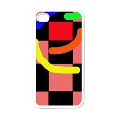 Multicolor abstraction Apple iPhone 4 Case (White)