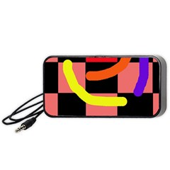 Multicolor abstraction Portable Speaker (Black)