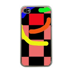 Multicolor abstraction Apple iPhone 4 Case (Clear)